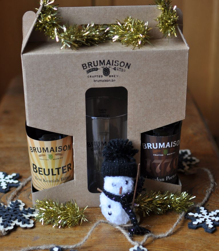 2-bottle and glass gift box